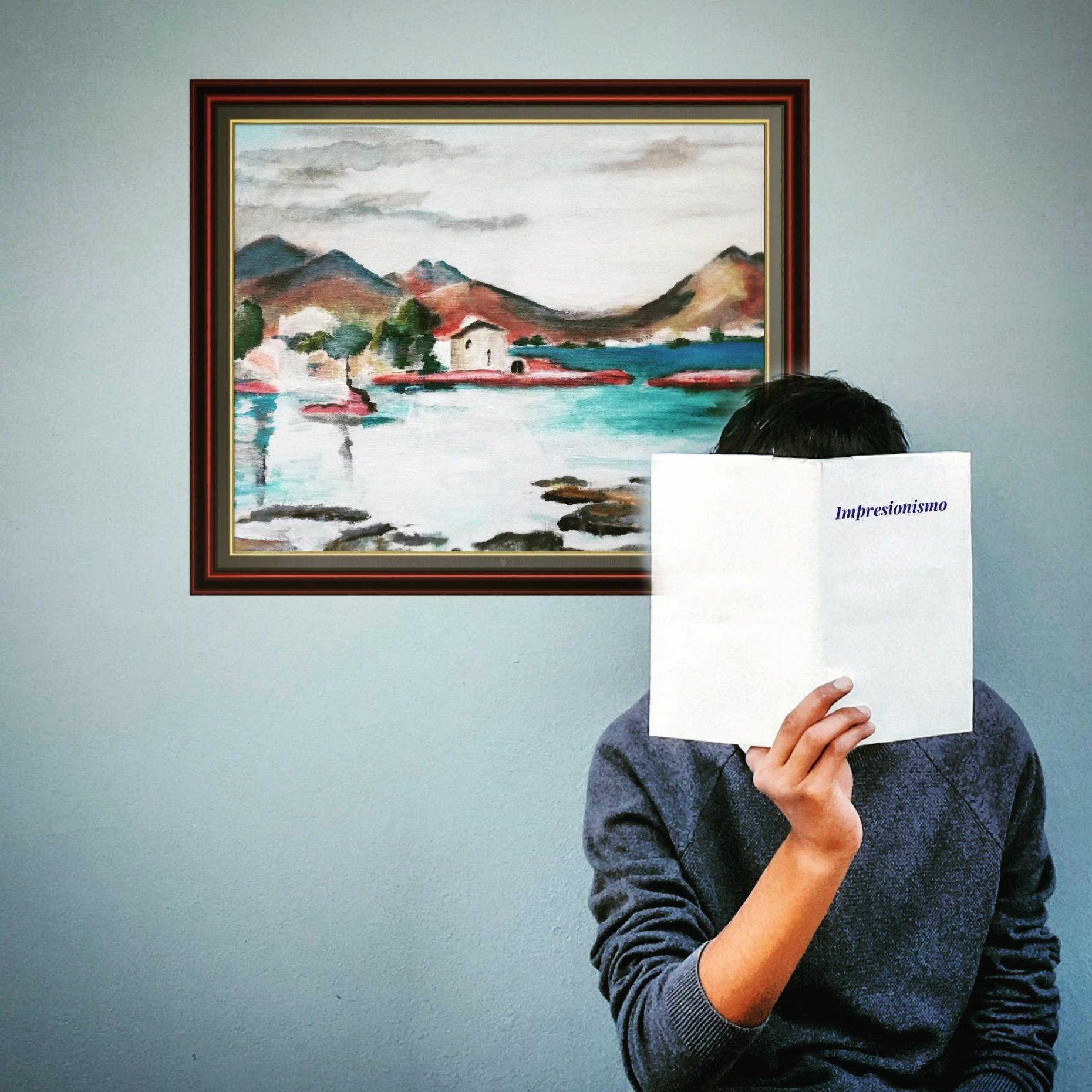 Paisaje, portrait, sea, scenery, pueblo, costa, coast, town, impressionist, impresionismo