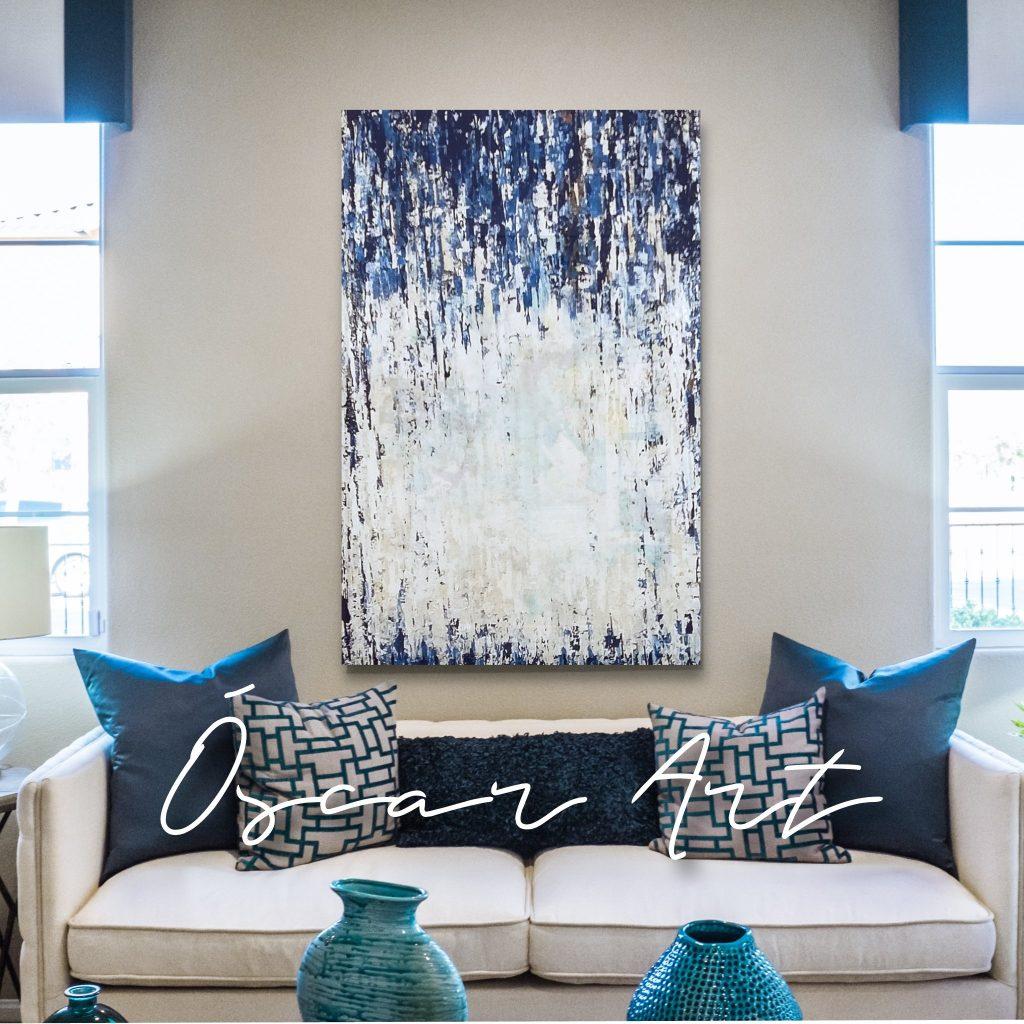 Azul, blanco, esmalte, Óscar Art