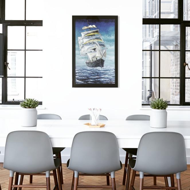 velero bergantín, navío en alta mar